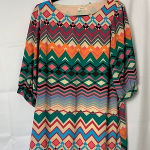 - Everly women's multi color tunic dress